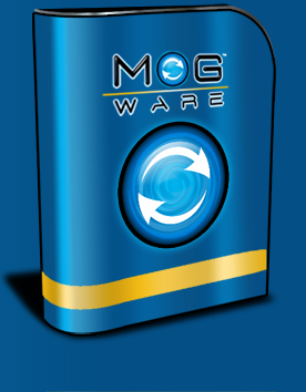 Box with Mog logo on it